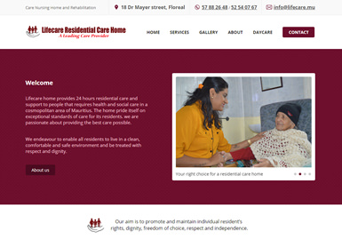 Web Design for lifecare.mu