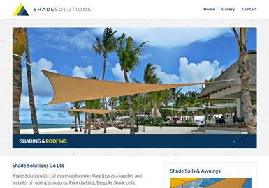 Web Design for shadesolutionsmauritius.com